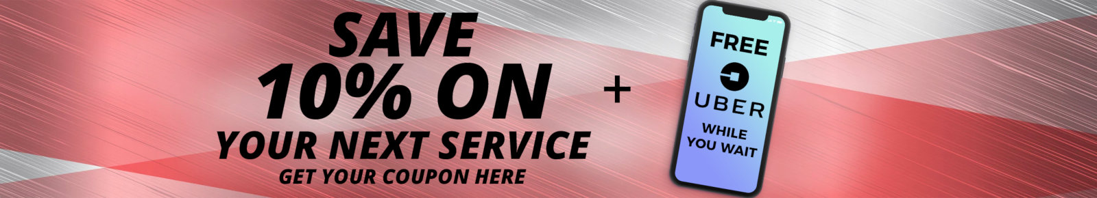 save 10% on your next service!