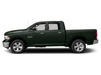 2015 RAM 1500 ECO DIESEL/SLT/BIG HORN/ 4x4/LARGE LCD SCREEN Black Forest Green Pearl  Shot 3